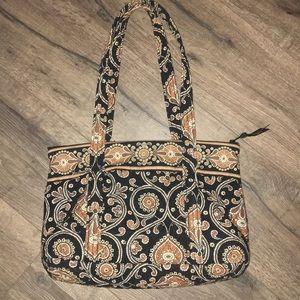 Vera Bradley tan and black purse